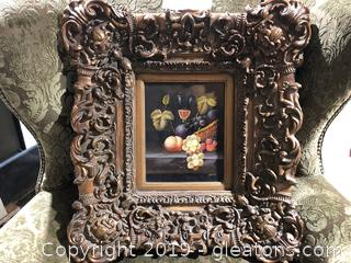 (A) Framed Oil Painting By Henri