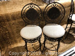High End Counter Height Swivel Bar Stools  LOT A