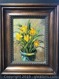 Signed Oil Painting Frame