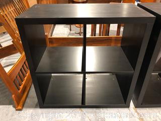 Dark Wooden Storage Unit with 4 Cubicles (B)