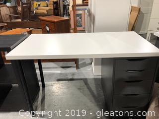 Ikea Table Top W/One Storage Unit