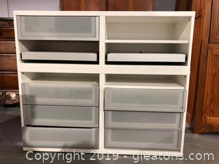 Ikea Computer work Station with Drawers and 2 Pull-out Shelves.