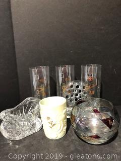 Glass Lot-7 pieces