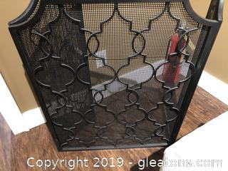 Uttermost Black Metal Fireplace Screen