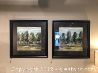 Pair of Impressionistic Art Prints by Picture Gallery