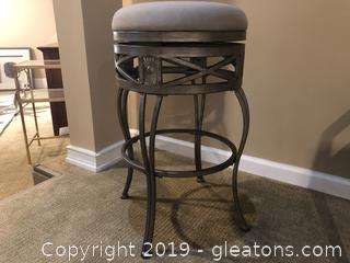 Wrought Iron and Sunbrella # 1 Fabric Stool - Indoor and Outdoor