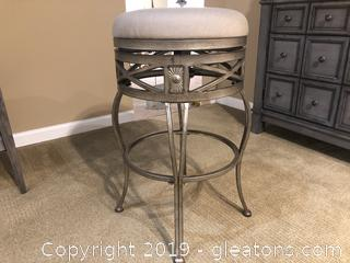 Wrought Iron and Sunbrella # 2 Fabric Stool - Indoor and Outdoor