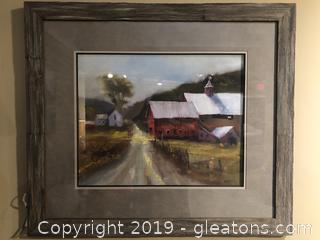 Farmhouse Art in Rustic Frame