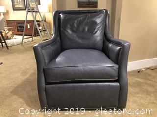 High End Leather Swivel Chair Made by CR Laine