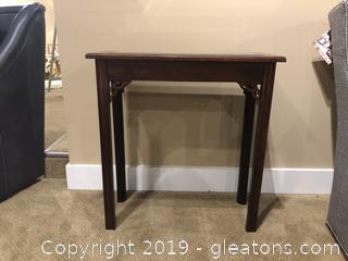 Cooper Classics Wood and Glass Console Table