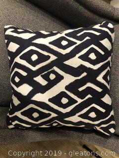 Navy / White Accent Pillow