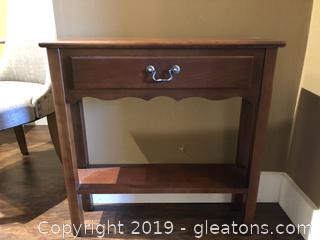 Cherry Console Table W/Drawer