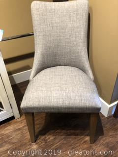 Gray Parsons Chair W/Nail Head Trim
