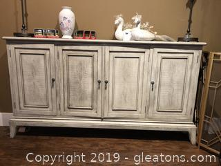 Antique White Side Board by Revelation Furniture