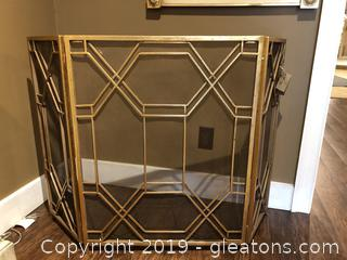 New Gold Metal Fire Place Screen