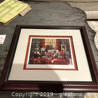 Alabama Football Signed Wall Art by Picture Gallery