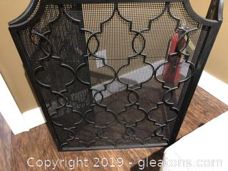 Uttermost Metal Fireplace Screen
