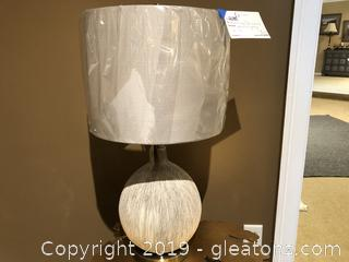 White & Gray Table Lamp by Uttermost Lighting