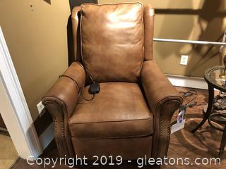 Upscale Leather Recliner with Power Controls by Bradington Young