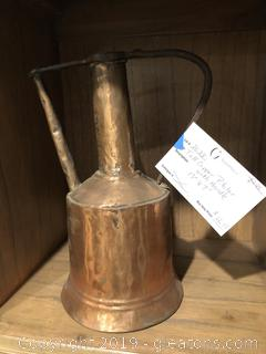 Tall Copper Pitcher with Handle