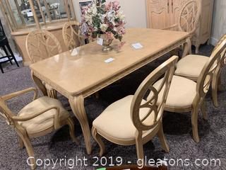 Pickle Finish Dining Table/Chairs by Bernhardt