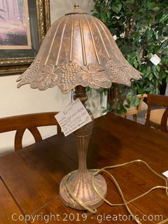 Unique Table Lamp in Bronze Finish