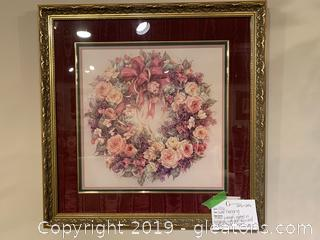 Wall Hanging of a Floral Wreath