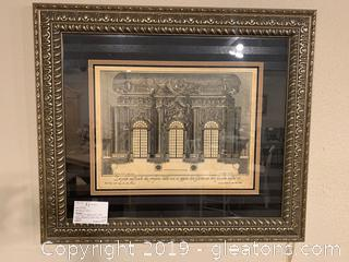 Ornately Framed Palace View