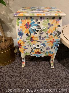 Gail Accents Colorful Side/End Table