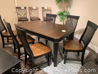 Block Leaf Table and Chairs
