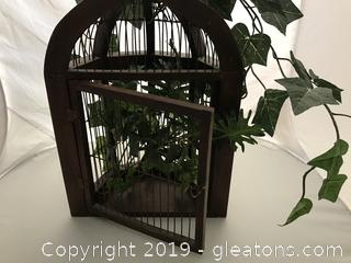 Bird cage type wall hanger or display case
