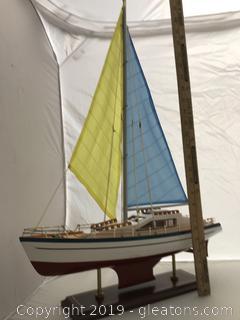 Sleek Sail Boat