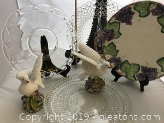 4 Cookie Platters and Two White Doves