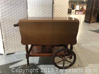 Vintage Three-Tier Rolling Tea Cart