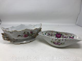 Elegant Hand Painted Snowden Candy Dish