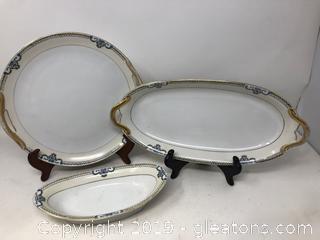 Three Pieces of Noritake  Porcelain China