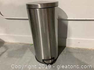 Tall Step Trash Can Stainless A