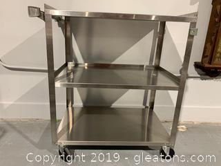 Medical Grade Stainless Rolling Cart B