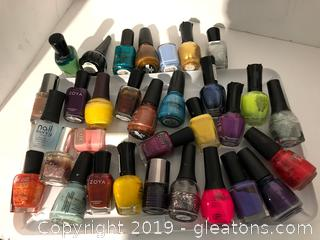 Professional Nail Lacquer Large Lot Finger Nail Polish C