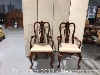 (2) Lexington Dining Room Arm chairs