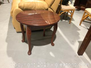 Oval Shaped End Table