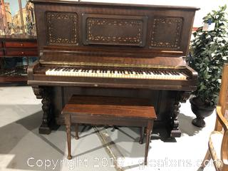 Antique Bradbury Piano RECENTLY TUNED circa 1891, with bench