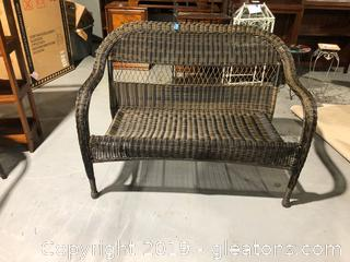 Birch Lane Wicker Patio Love Seat
