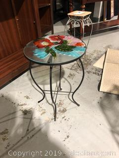 Garden Table with Hummingbird Detail
