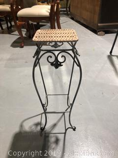Metal Plant Stand W/Woven Top