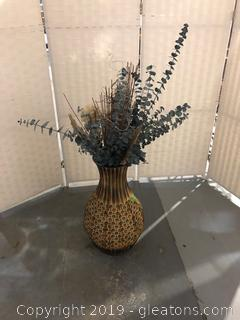 T-J Max Arrangement in Brown and Gold Vase