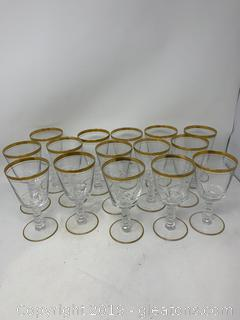 "Set of Fourteen Ice Tea Glasses 6½"" Tall by Laurel"