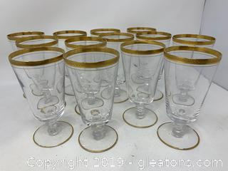 Set of Fourteen Wine Glasses by Tiffin