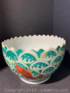 Scalloped Asian Bowl