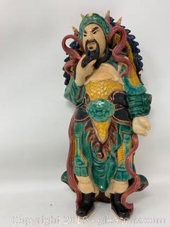 Ceramic Asian Wall Hanging